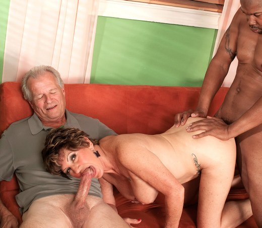 mature mommy milf bea cummings enjoys sex with young black guy and her housband