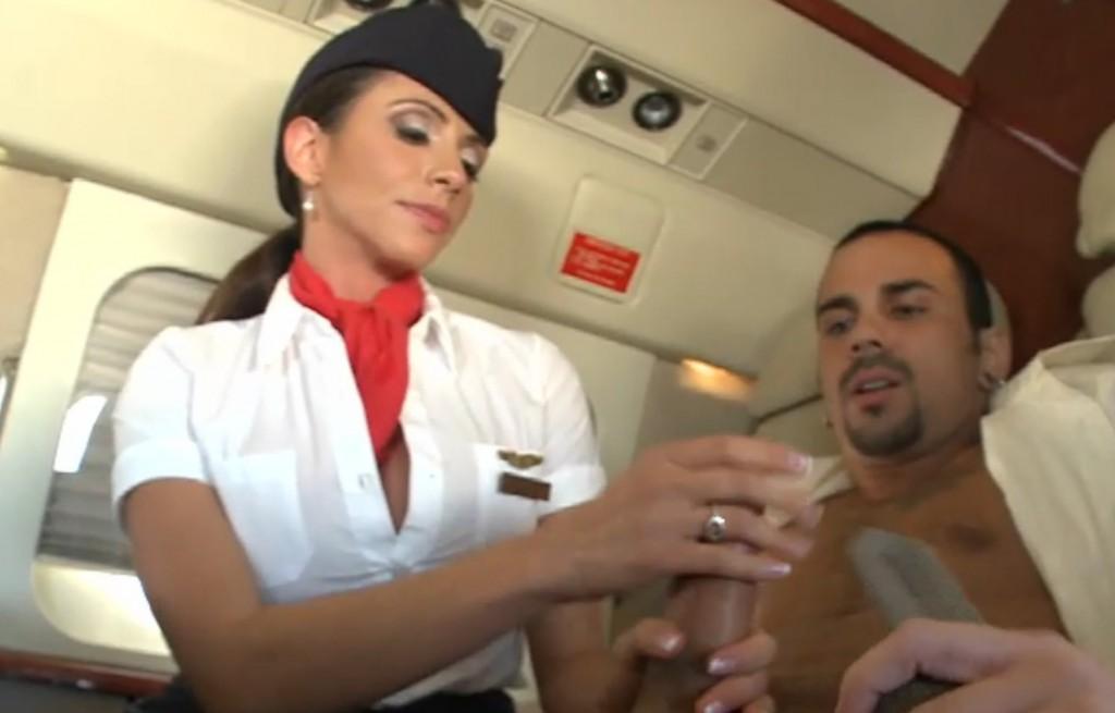stewardess blowjob