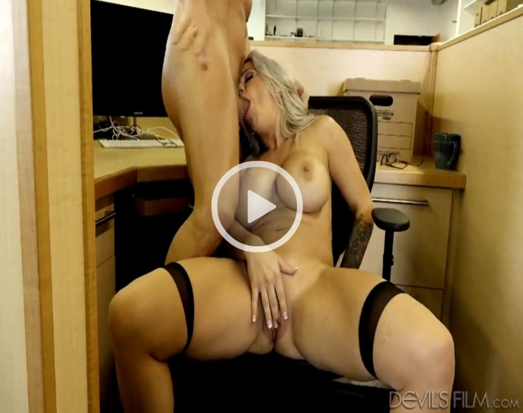 old milf secretary gives head in the office